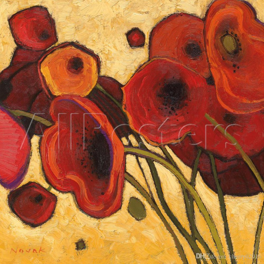 2018 handmade shirley novak paintings poppies wildly modern art 2018 handmade shirley novak paintings poppies wildly modern art flowers oil on canvas for living room decor from cherry02016 8845 dhgate mightylinksfo Image collections