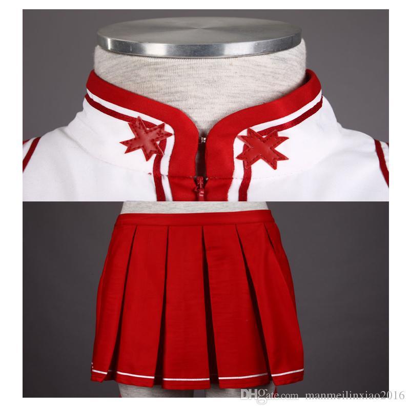 TOP Sale Anime 최고 품질의 소드 아트 온라인 Asuna Yuuki 1rd Cosplay Costume 크리스마스 예쁜 정장