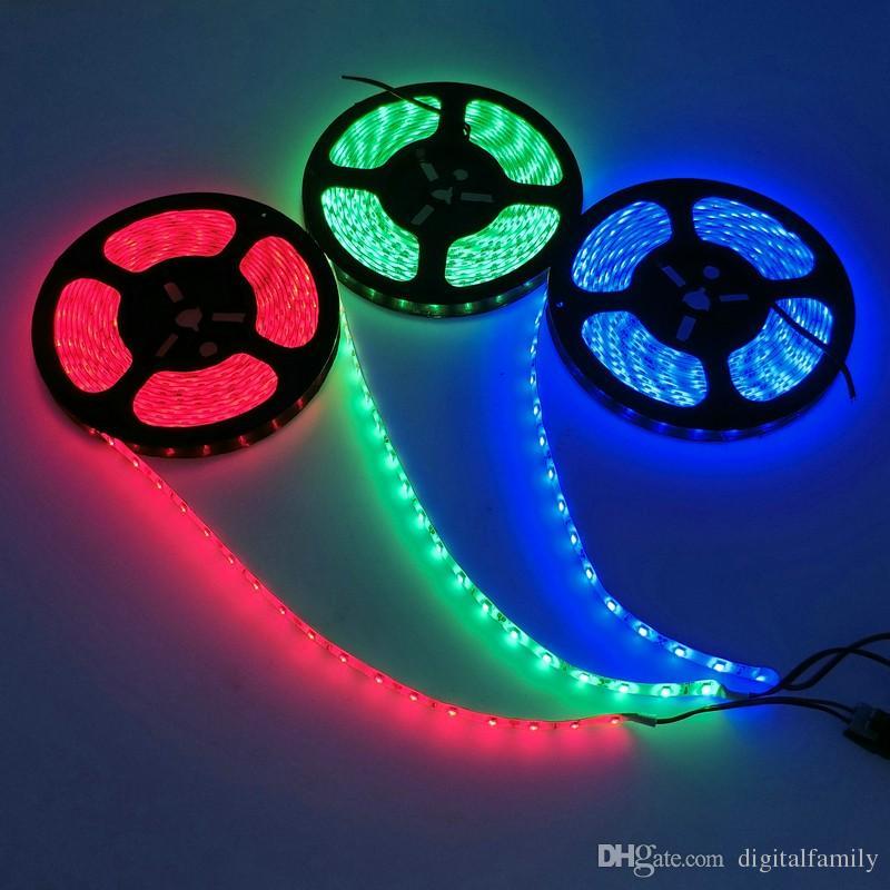 Nueva llegada Super brillante 5630SMD Tira de luz LED 2700 Lumen Rojo Azul Verde Blanco Colores cálidos 5 M Flexible 16 pies 5 M 300 LED Tiras impermeables