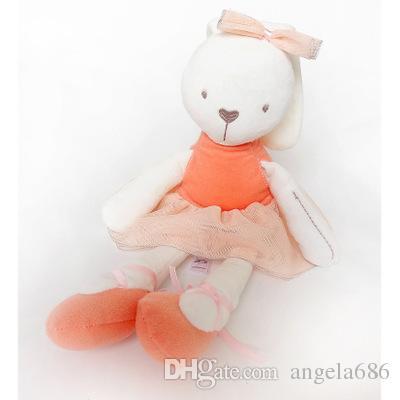 2017 nueva llegada Al Por Mayor-Kawaii 42 cm Grande Suave Animal de Peluche Conejito Conejo Juguete Baby Girl Kid para la venta