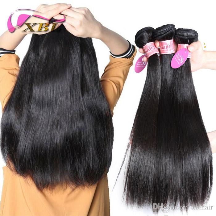 xblhair cheap brazilian human hair bundles virgin human hair bundles within straight/body wave and loose wave