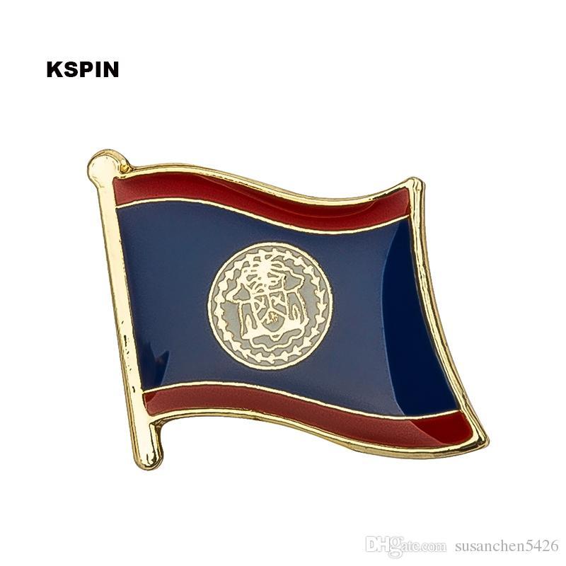 무료 배송 벨리즈 금속 플래그 배지 플래그 핀 KS-0041