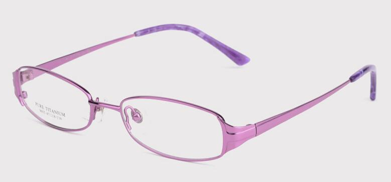 Titanium Womens Eyeglass Frames Purple Or Pink Color Lady