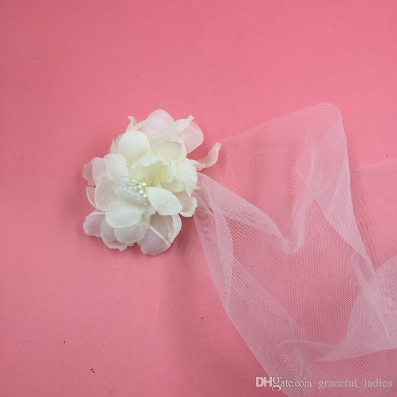Ivory Soft Tulle Birdcage Veils for Bride Short Wedding Veil Flowers Hot Sale Cheap Wedding Accessories Birdcage Bridal Veil