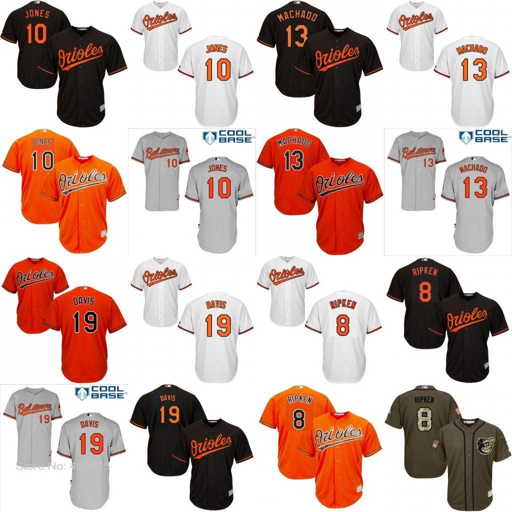 800fcae88eb ... Jersey Inscribed Youth Baltimore Orioles 8 Cal Ripken 10 Adam Jones 13  Manny Machado 19 Chris Davis Kids