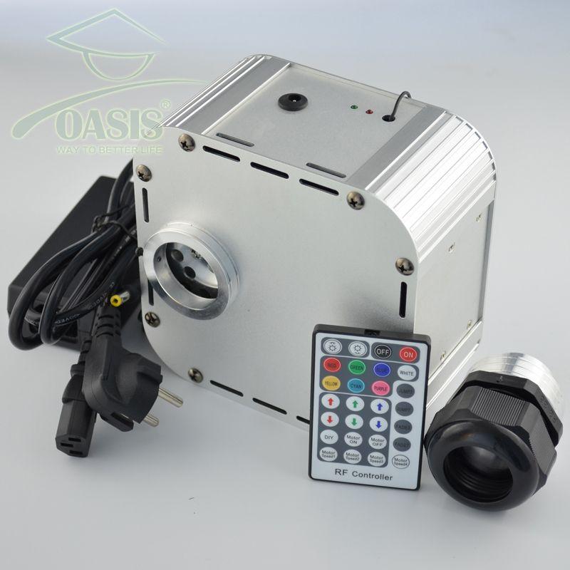 28key RF remote 32W 4 level-speed Twinkle RGB LED Fiber Optic Light engine