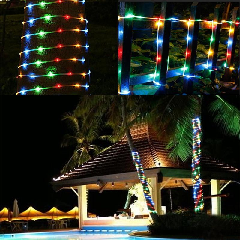 LED Dimmable Rope Lights Battery Powered Outdoor Waterproof 8 Modes Remote  Control Fairy Lights For Garden Patio Party Christmas Decoration Christmas  String ... - LED Dimmable Rope Lights Battery Powered Outdoor Waterproof 8 Modes