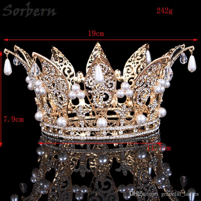 2bcad8c973 Sorbern Rhinestone Tiaras Bridal Crown Rose Gold Women Headpiece Floral  Wedding Hair Accessories Crystal Bride Hair Jewelry Dropshipping
