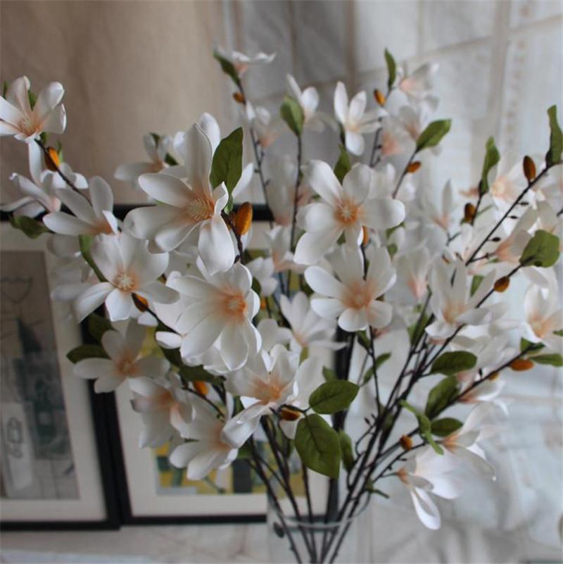 Silk spring magnolia flower 90cm3543 length artificial flowers 12 mightylinksfo
