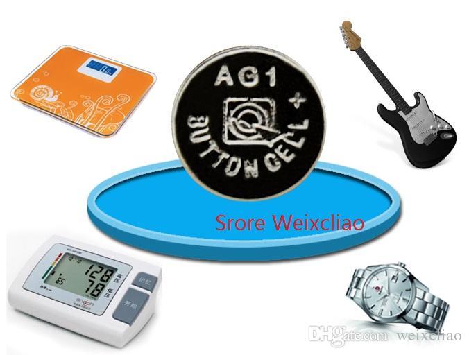 100 stücke 1 los AG1 LR621 164 364 364A SR621 LR60 1,55 V Alkalische Knopfzelle Knopfzellenbatterie-Behälterbatterie Freies Verschiffen