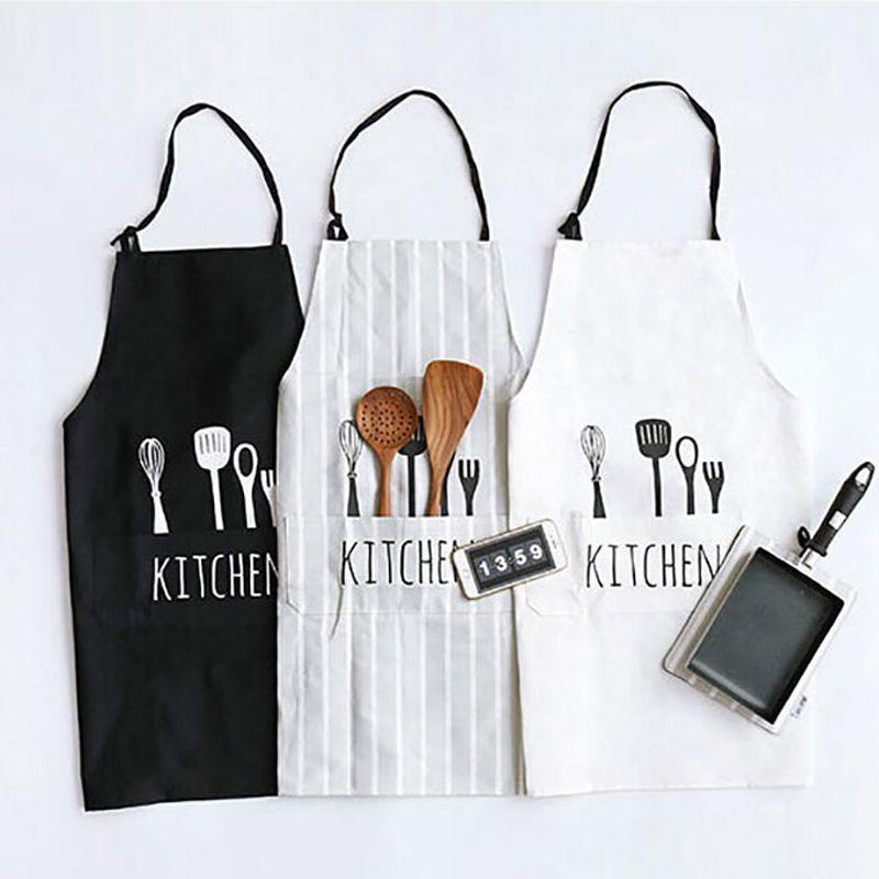 new women men apron commercial restaurant home bib spun poly cotton kitchen aprons half apron waist apron from gardenking 1257 dhgatecom - Kitchen Apron