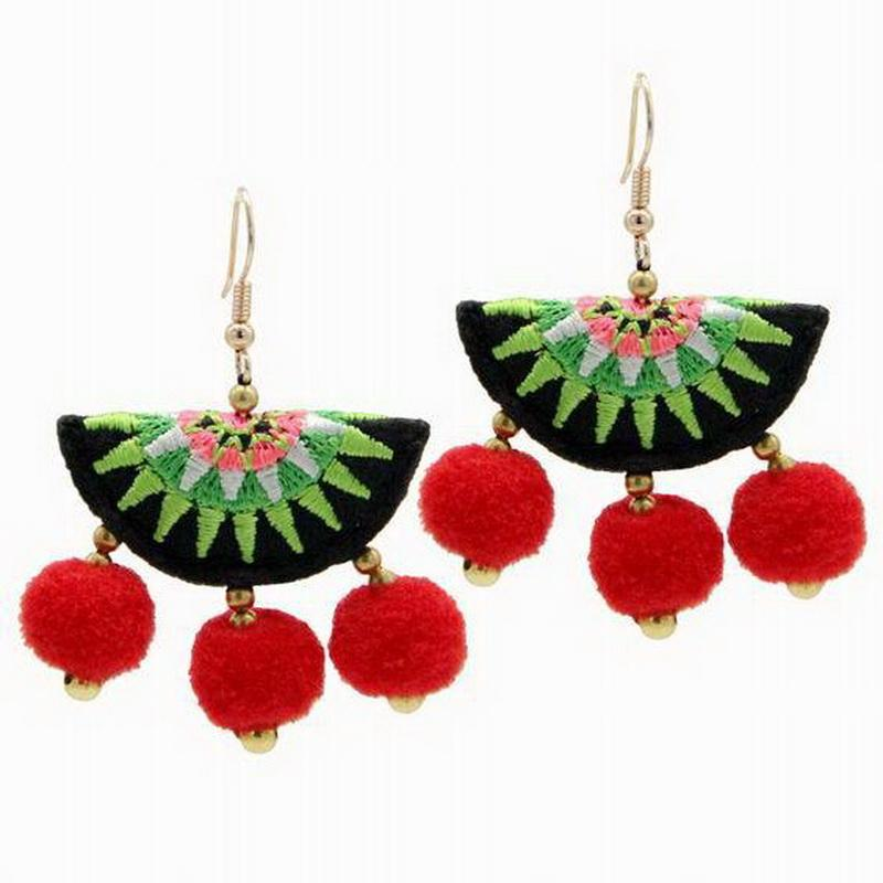 Vintage Jewelry Hmong Embroidery Earrings With Earrings Ethnic Style  Accessories Dangle Earrings For Women