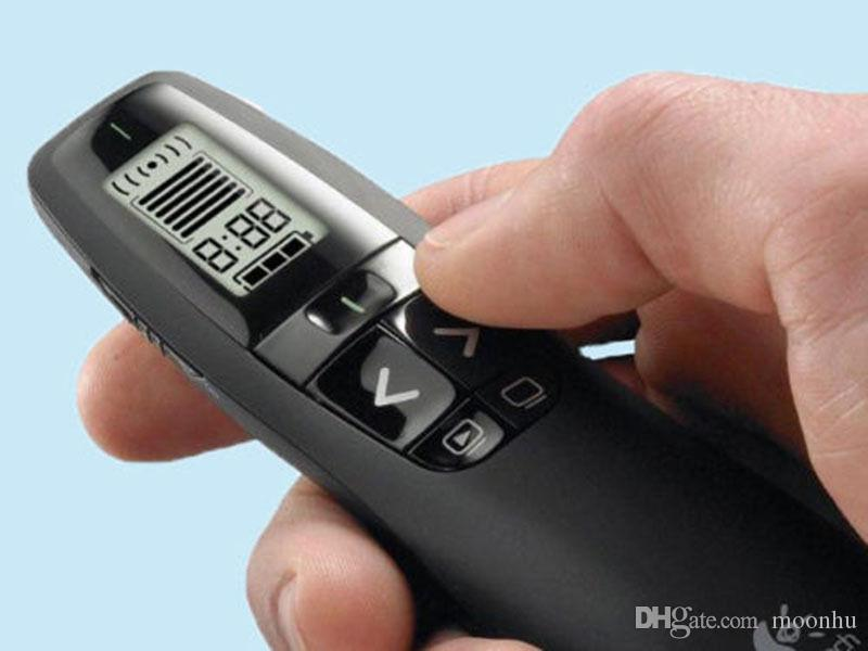 R800 2.4 GHz Kablosuz Presenter Uzaktan Sunum USB Kontrol PowerPoint Yeşil Lazer Pointer ile PPT Clicker