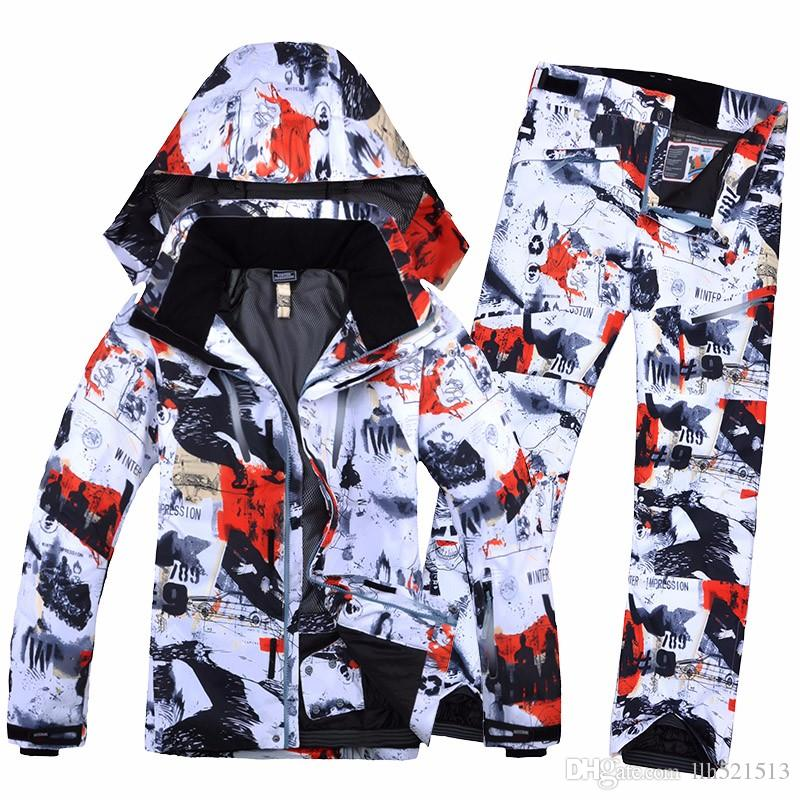 !The new Male ski suits jacket+pants Men's water-proof,breathable thermal cotton-padded snowboard ski suits ski jacket+pan