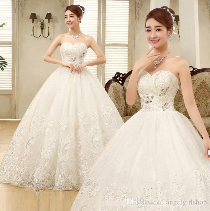 Charming Sweetheart Applique Lace Vintage Bridal Wedding Dress ...