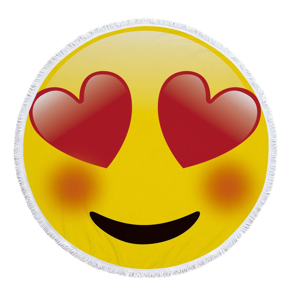 Acheter Mignon Emoji Emotion Sourire Ronde Grande Plage