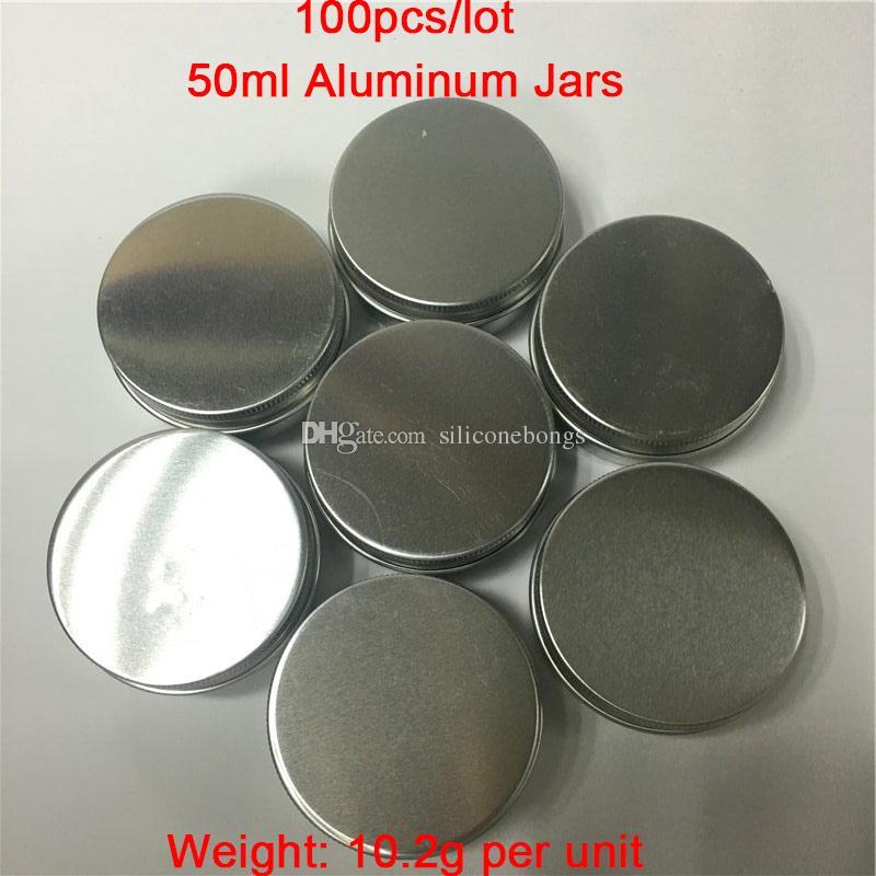 Дешевые 100 шт. / лот 50 г / мл алюминиевые банки алюминиевые восковые контейнеры дым банку контейнеры на продажу Бесплатная доставка по всему миру