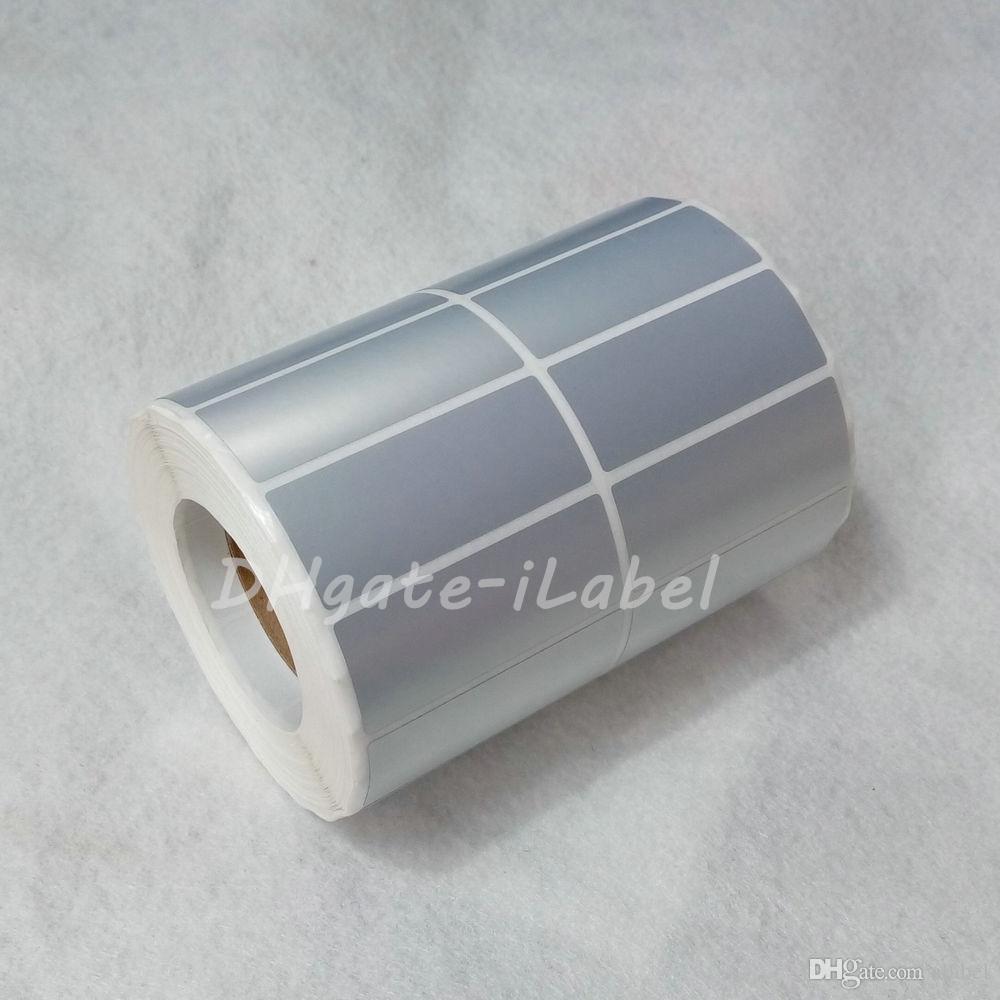 Adesivo etichetta adesiva PET satinato termico Tranfer 50 * 20mm / rotolo Impermeabile resistente all'acqua Tearproof numero di serie di codici a barre adesivi