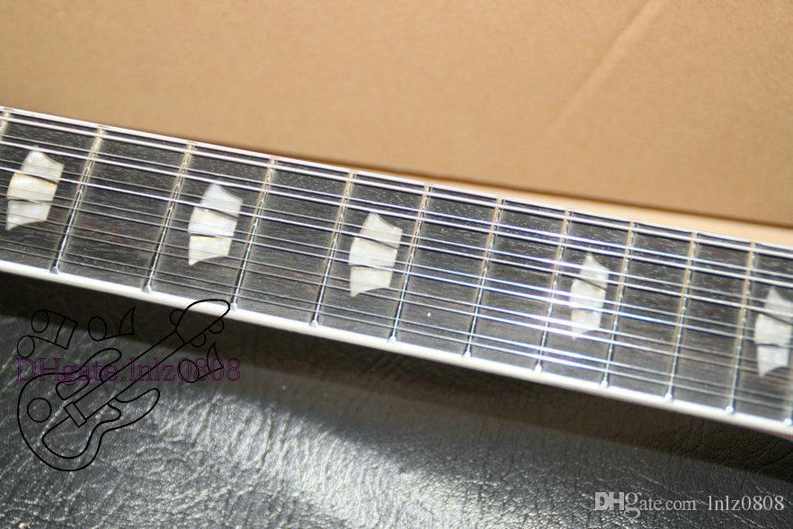Пользовательские 12 строк гитара Левша гитара Sunburst полые тела джаз электрогитара Бесплатная доставка