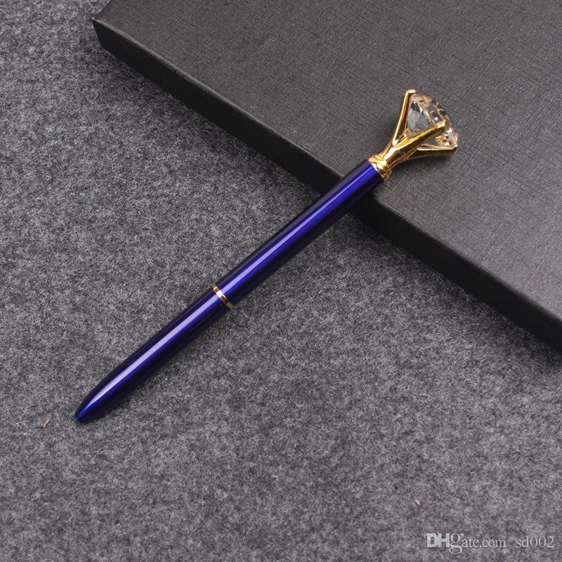 Penne a sfera portatili Penne a sfera a flusso d'inchiostro stabili e confortevoli Easy Penne a sfera in metallo con cristalli cancelleria Red Pink 3 43xh B