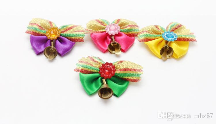 Hot sale Pet Dog Christmas Holiday Hair Bows Dog Hair Accessories Hair Tie Pet Grooming Products
