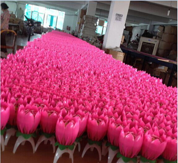 Musical Lotus Flower Flame Happy Birthday Cake Party Gift Lights Rotation Decoration Candles Lamp Surprise