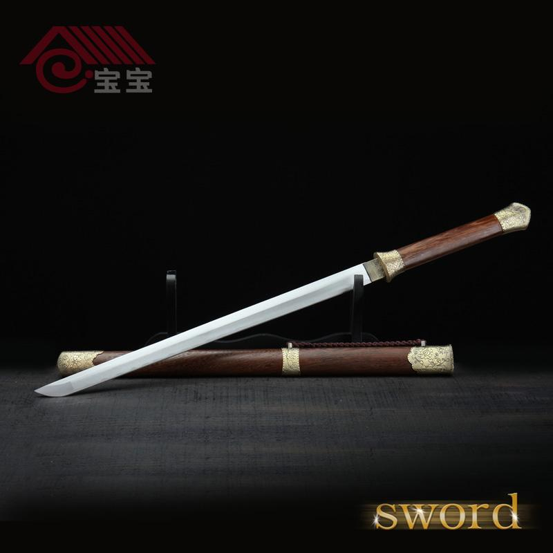 Samurai sword martial arts-loving collection of decorative long section  sword katana sword fighting gaotang steel carbon steel