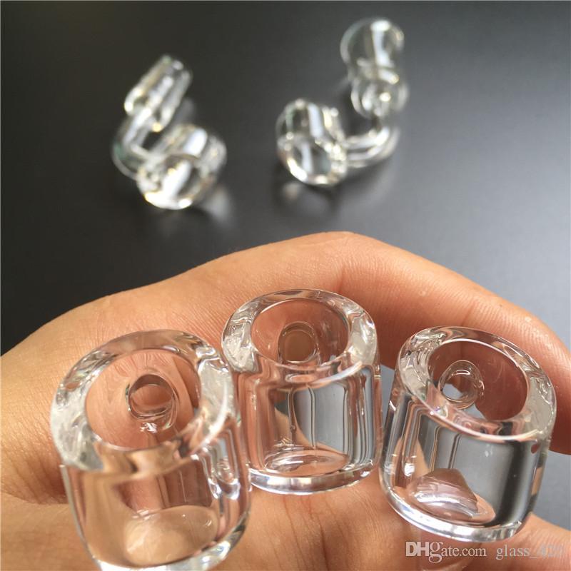 Quave Quarz Banger 4mm dick 10mm 14mm 18mm männlich weiblich 45 Grad 90 Grad dicken klaren Quarz Nagel für Glas rauchen Wasser Pips