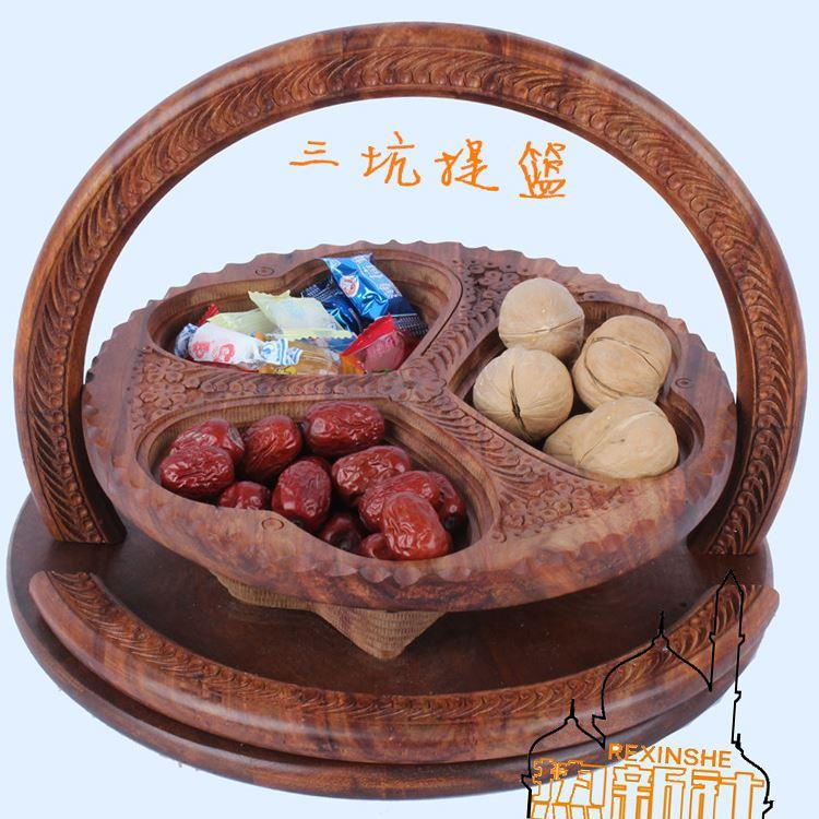 Imported Fruit Basket Wood Folding Wooden Three Peach Fruit Basket Pit In Pakistan
