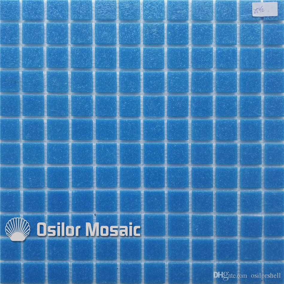 blue glass mosaic tile for swimming pool bathroom wall tile floor tile 4 square meters 25v12