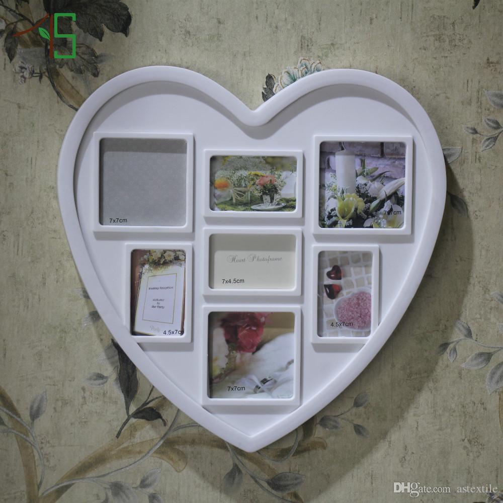 Compre Recién Llegado De Amor Blanco Marco De Fotos De Fotos ...