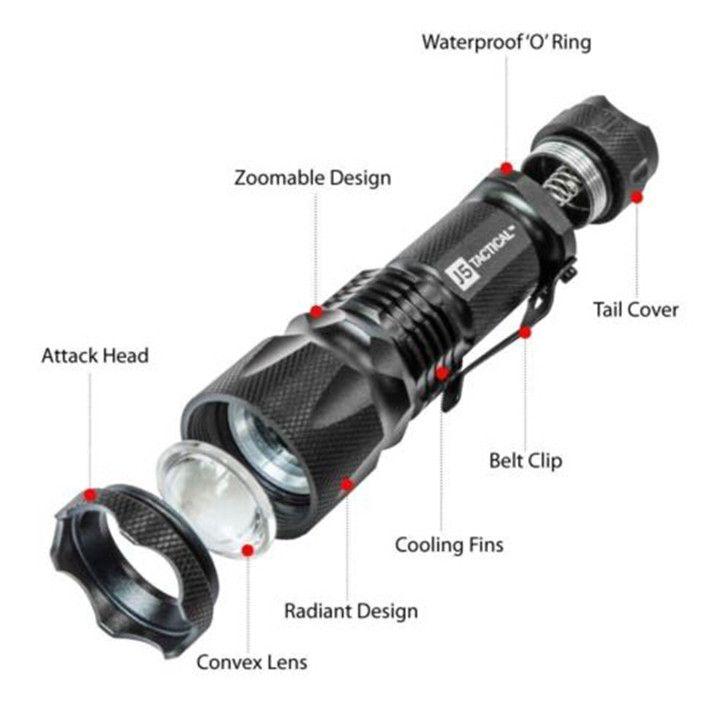 J5 التكتيكية V1-Pro المصباح 300 التجويف فائقة مشرق جودة عالية أفضل أدوات للمشي ، الصيد ، الصيد والتخييم dhl شحن مجاني