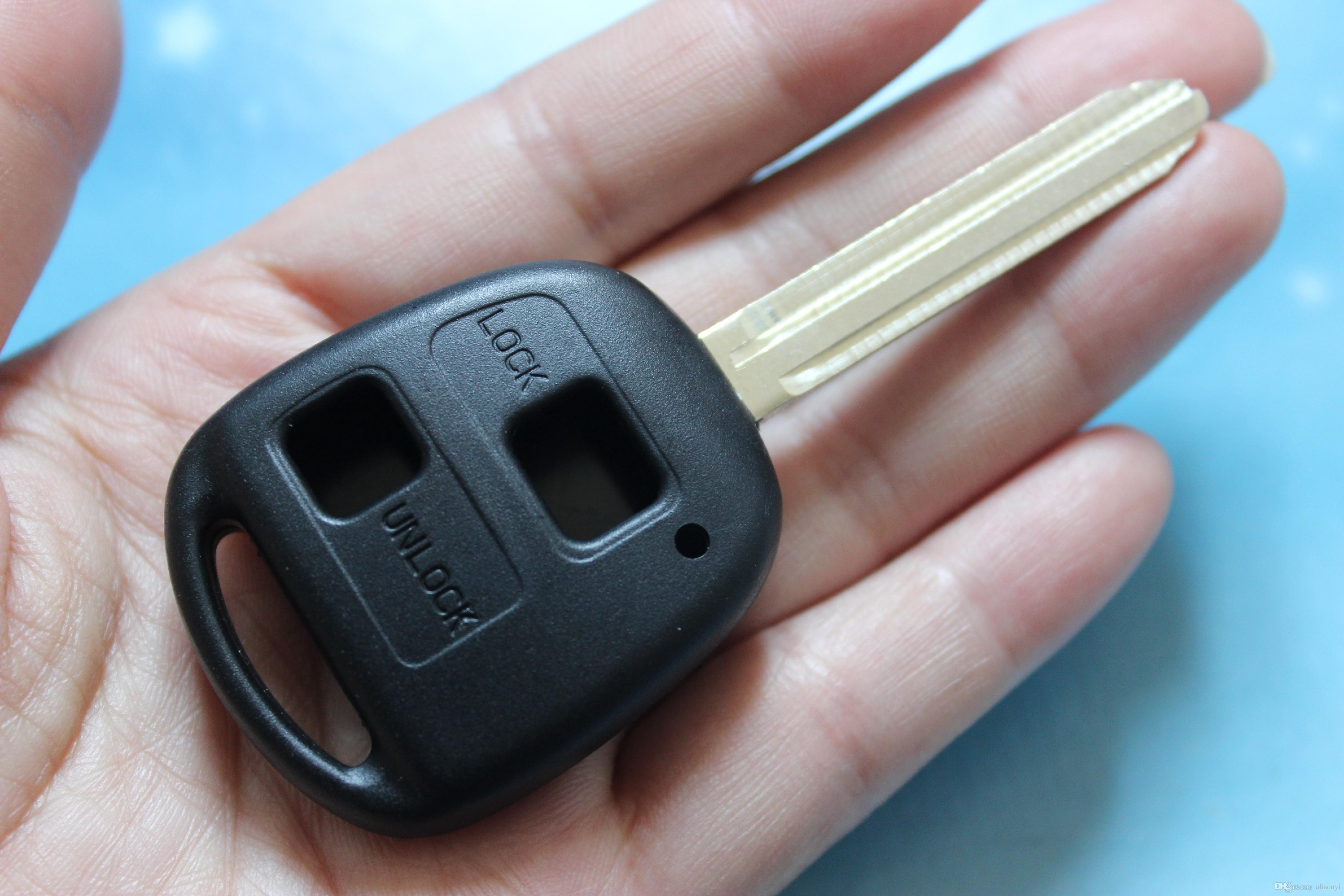 Cyctem Car Key Shell Replacement Case 2 Buttons Remote Key Blank