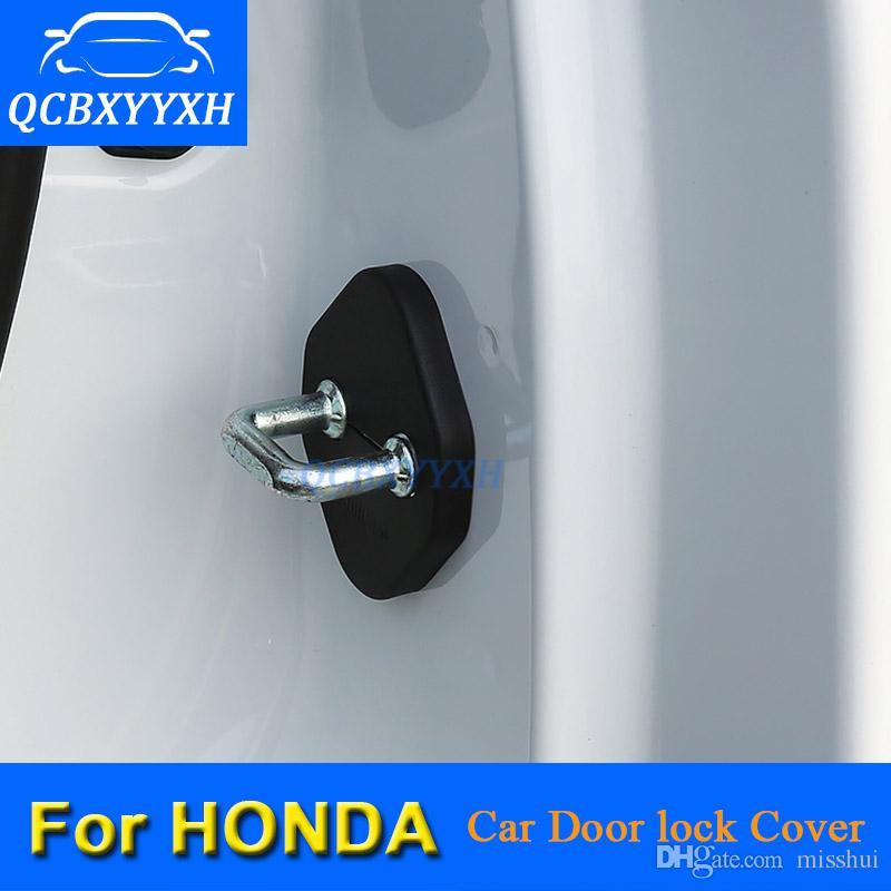 4шт автомобильный дверной замок защитная крышка для Honda CRV Vezel HRV Accord City Fit Civic Jade Jazz автомобиль дверной замок украшения автоматический