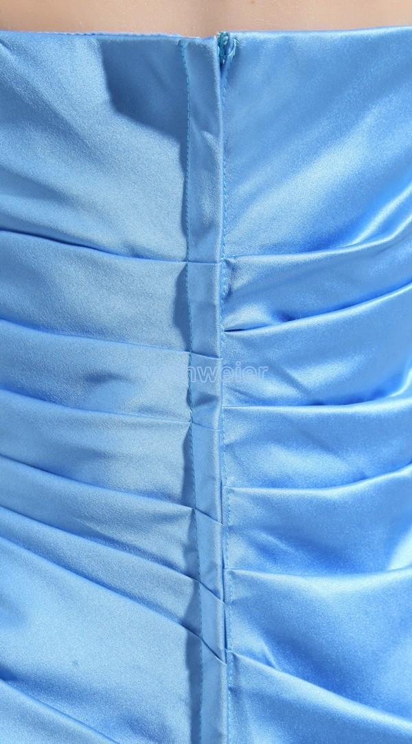 2018 Satin al ginocchio Sweetheart Guaina abiti da damigella d'onore Party Long Nuovo design Vendita calda Spose Cameriera Custom Size / colore