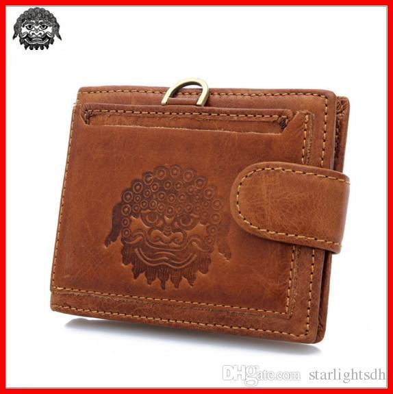 Acheter Portefeuille Vintage En Cuir Rétro Pour Homme Avec Boîte Cadeau Et  Porte Carte Amovible Couleur Marron En Cuir De Vachette Pliable Zipper  Purse ... 1412558e0b3