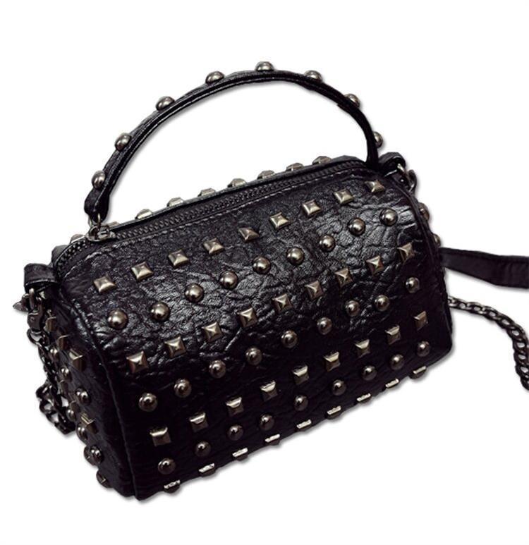 2016 New Handbags Designers PU Leather Bags For Women Handbag Fashion Rivet  Purses Message Bags Mini Crossbody Bags Shoulder Bags Chain Bag Handbags ... 39bb040c0b76b