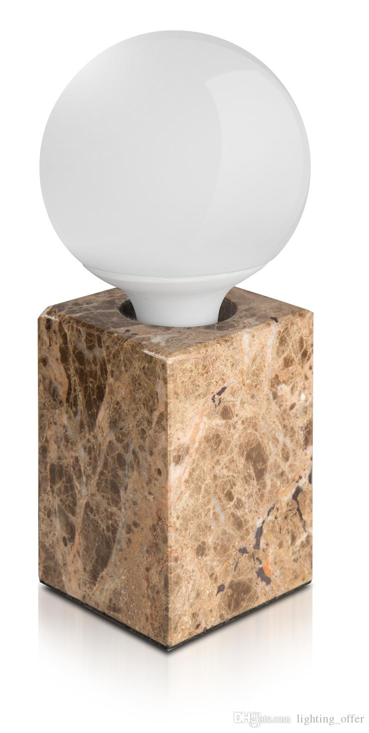 Candeeiro de mesa de mármore personalizado circular uma nova era de lâmpada criativa E27 Lâmpada LED