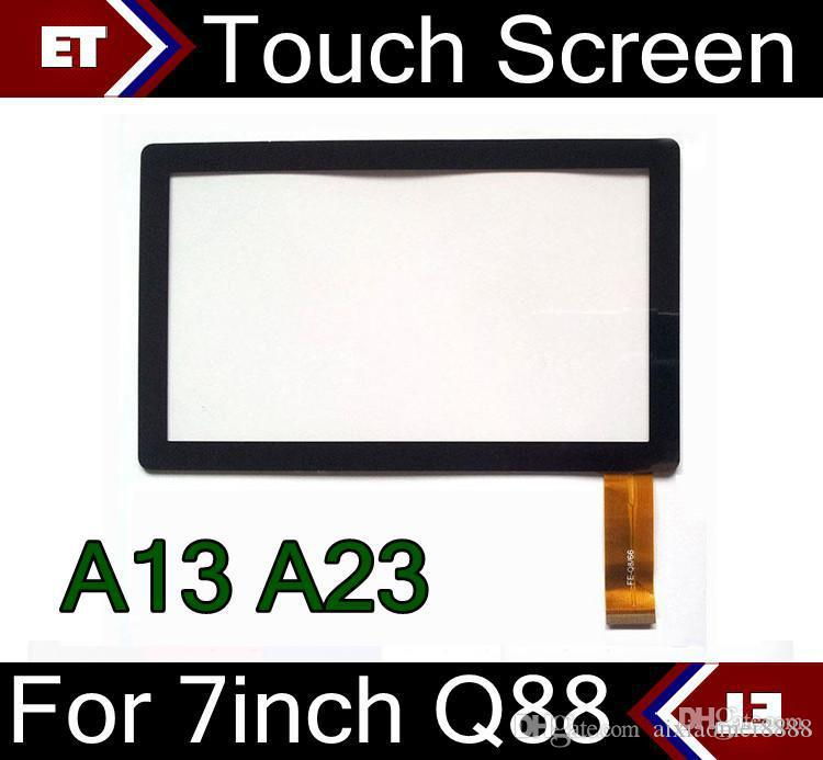 DHL 100PCS Brand New Touch Screen Display Glass Replacement For 7 Inch Q88 A13 A23 Tablet PC MID TC1