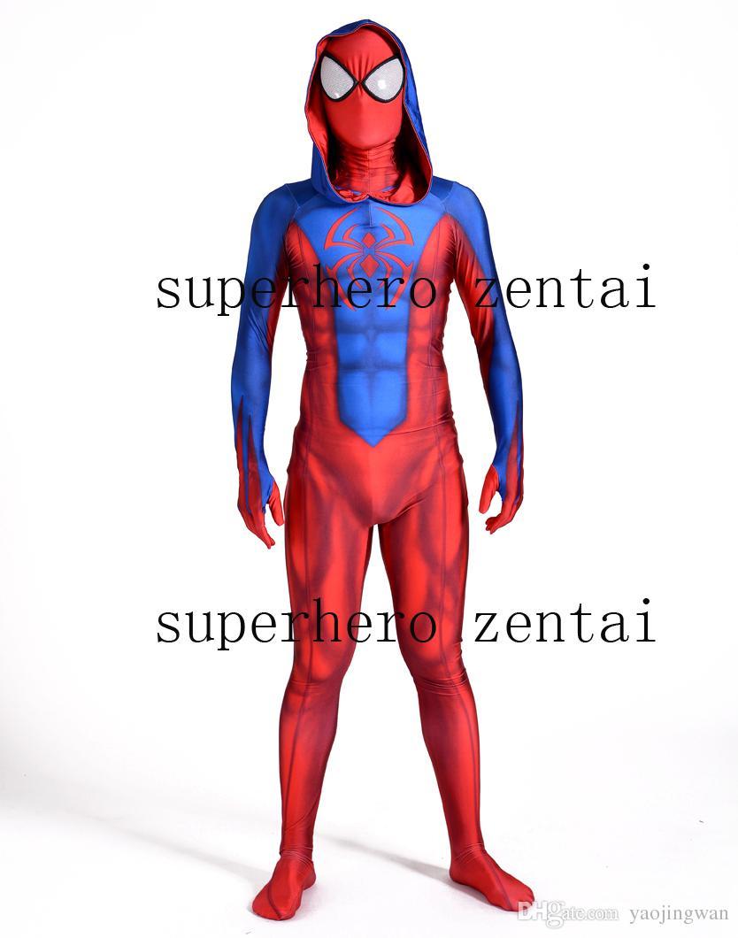 Compre Nueva Ben Reilly Sudadera Con Capucha Spider Man Traje De Cosplay  Personalizada 3D Impreso Scarlet Araña Lycra Zentai Spiderman Traje  Completo Envío ... 865842d0c02