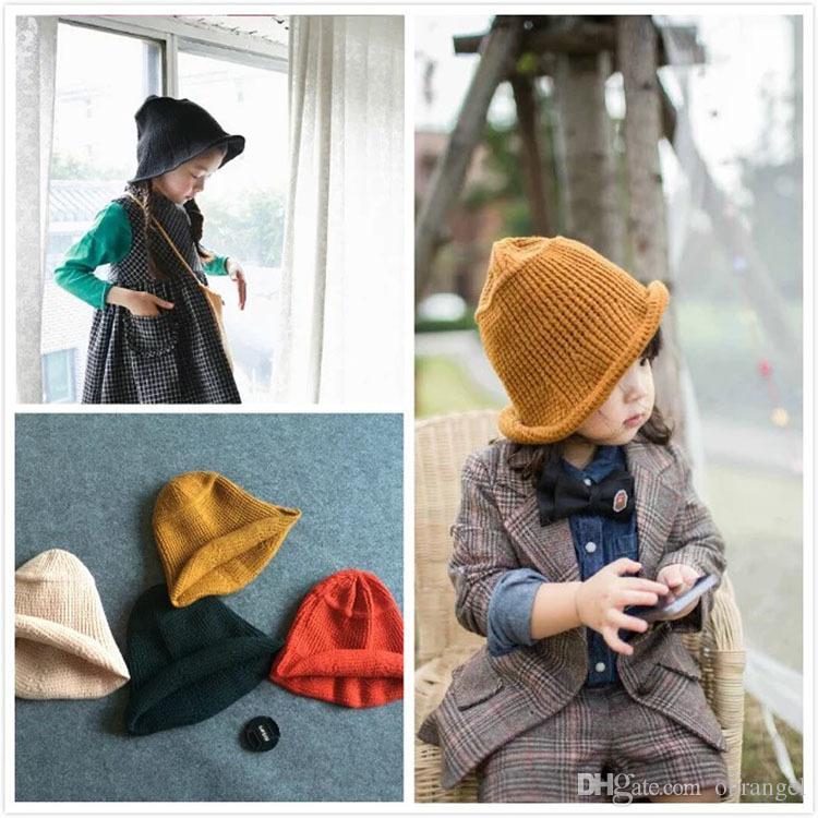 a93b111b985 Wholesale-fashion Models Chic Fisherman Warm Wool Hat Knitted Hat Korean Autumn  Winter Bucket Hat   Cap Fashion Fisherman Cap Hat Baby Boys Girl s Warm Wool  ...