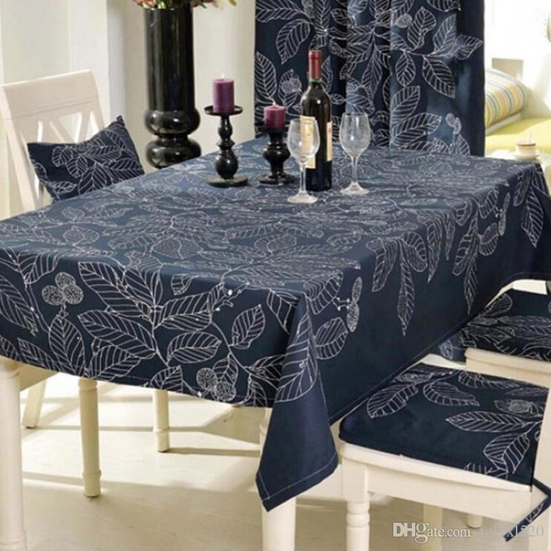 Beau Modern Style Rectangular Tablecloths Black And White Leaves Printing Table  Cloths For Party Picnic Hotel Home Deorations Table Cloths For Home Table  Cloth ...