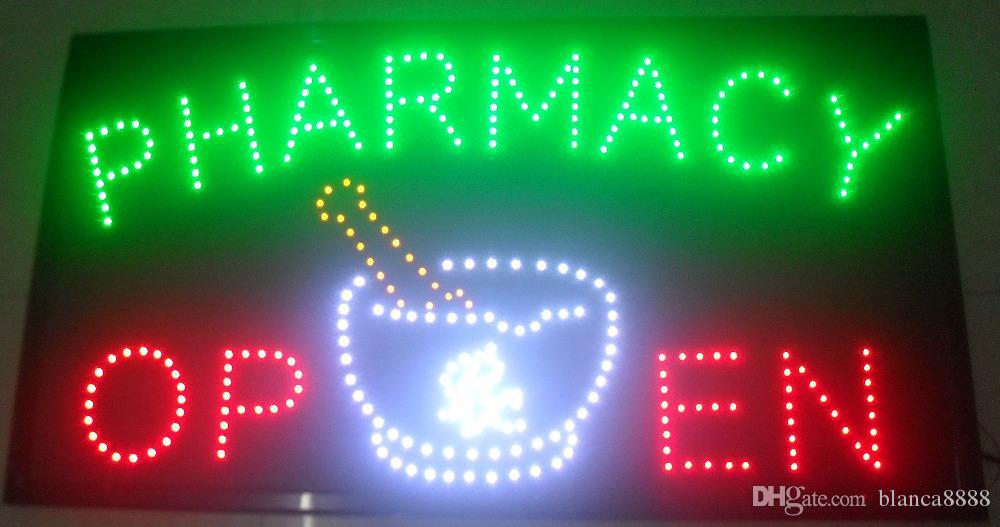 2016 venta caliente personalizada pantalla led 50 * 70 CM interior tienda de farmacia intermitente señalización abierta llevó signo vallas publicitarias