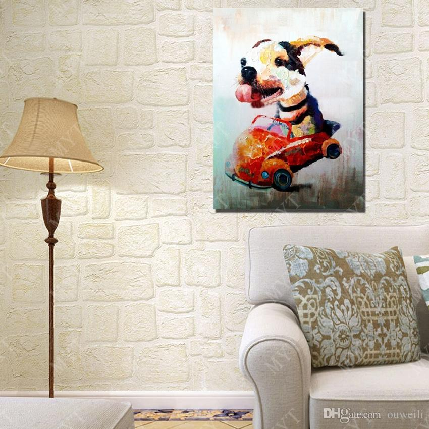 hand painted by artists modern painting decoration for home wall decor cartoon canvas dog oil painting