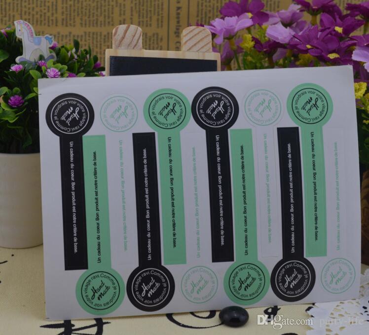 500sheets  손으로 만든 롤리팝 모양의 씰링 스티커 장식 DIY 스크랩북 봉투 선물 패키지에 대 한