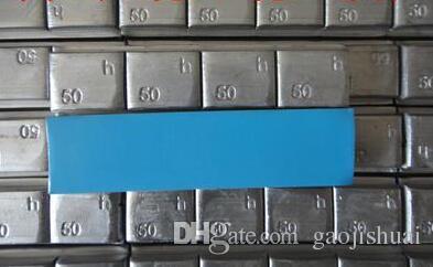 Peso de balanceo de la rueda adhesiva de plomo 50 gramo // peso del balance de la rueda cinta de 3M o cinta azul