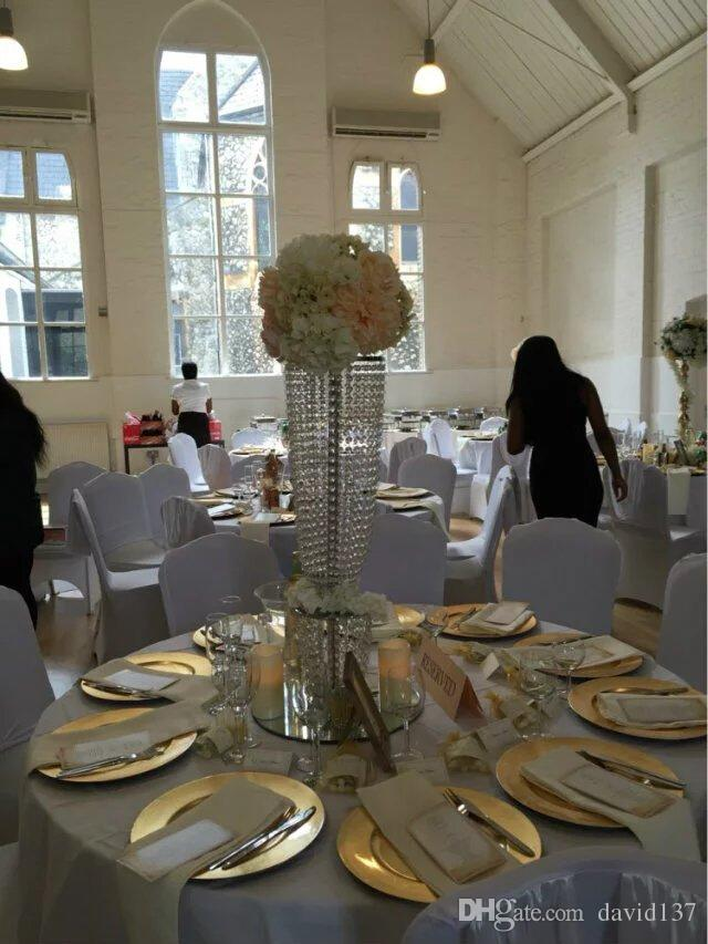 Großhandel Hochzeit Mittelstücke Kandelaber Für Hochzeit Tisch / Kristall  Kandelaber Mit Hanging Kristall Und Blume Schüssel Von David137, $452.27  Auf De.