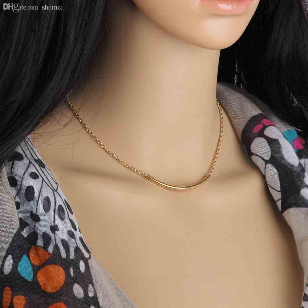 Acheter Gros Femmes Filles Simple Design U Pendentif Tube En Forme ...