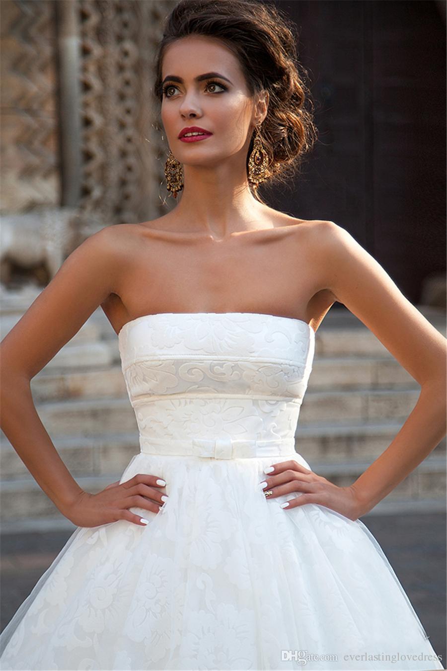 Abito da sposa senza spalline in arco di arco di alta qualità Abito da sposa Abito da sposa Abito da sposa lungo Abito da sposa Bandage Vestidos Noivas