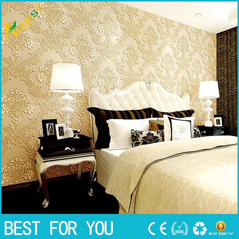 Simple Bedroom Wallpaper simple 3d stereoscopic relief european wall covering wall paper tv